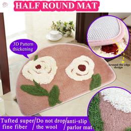 pales-40*62CM semicircle tufted super fine fiber anti-slip mat green Rugs pink Bath Mats ground mat parlor mats