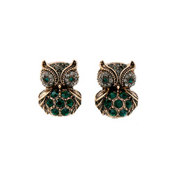 Earrings for Women Cute Diamond Owl Earrings Pierced Ears Hoop Pendant Character Cool Jewelry Fashion Earrings Women Gift Wholesale Spot