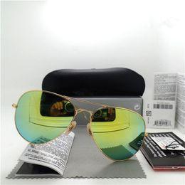 Polarized lens Brand Designer Fashion New Men Women Sunglasses UV Protection Sport Vintage Sun glasses Retro Eyewear With box and case