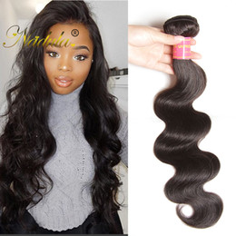 Nadula Brazilian Hair 4 Bundles Virgin Hair Extensions Brazilian Body Wave Human Hair Weaves Remy Human Weave Bundles Wholesale Cheap Silk