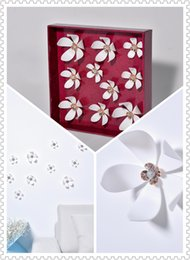 (Promotion: Buy 1 get 1 free)Flower 3D Wall Stickers White color(10pcs box) (white)