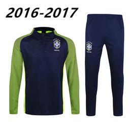 best thai quality 2017 Brazil Training suit 16 17 Brazil NEYMAR JR PELE OSCAR D.COSTA DAVID LUIZ football shirt soccer jerseys tracksuit
