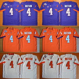 Men's Kids Clemson Tigers 4 DeShaun Watson Orange White Purple Color Youth College Football Stitched Jerseys Embroidery Logos Free Drop Shi