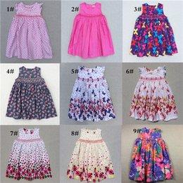 New Arrival Girls Flower Dresses For Girls Princess Short New Dress Kids Flower Print For Girls Hand Making High Quality 2018 Summer