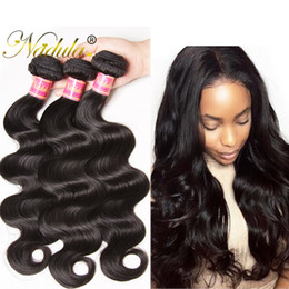 Nadula Hair Malaysian Virgin Body Wave Bundles With Closure Cheap Human Hair Extensions Remy Human Hair Wefts With Lace Closure Wholesale