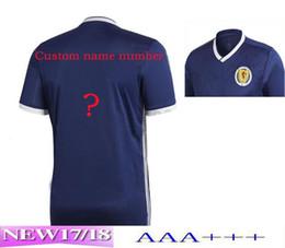 Top thailand quality Scotland soccer UNIFORM 2018 world cup home blue jersey 17 18 football kits soccer shirts m tzen men shirt