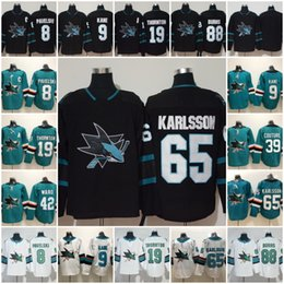 San Jose Sharks Jersey Hockey 8 Joe Pavelski 65 Erik Karlsson 19 Joe Thornton Logan Couture 88 Brent Burns 9 Evander Kane Hertl Green Black