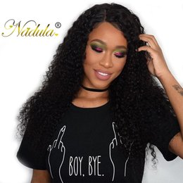 Nadula Brazilian Curly Virgin Hair Wefts Brazilian Kinky Curly Hair Weaves Brazilian Curly Remy Human Hair Extension 3Bundles With Closure
