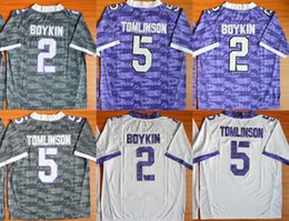 Factory Outlet- Tomlinson 5 Boykin 2 College Football Jersey 100% Stitched Name And Number Free Shipping!
