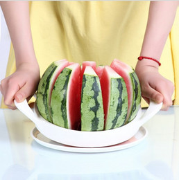 Watermelon slicer melon cutter stainless steel creative kitchen tools fruit cutter big size knife chopper free shipping