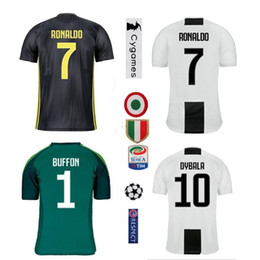 new 2019 Juventus home Soccer Jersey 18 19 #7 RONALDO DYBALA Soccer Shirt MARCHISIO MANDZUKIC PJANIC HIGUAIN football uniform Sales
