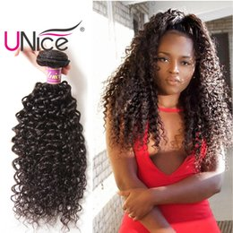 UNice Hair Wholesale Virgin 8A Brazilian Hair Bundles Curly Wave Bundle Unprocessed Human Hair Weaves Cheap Nice Curl 8-26 inch Bulk