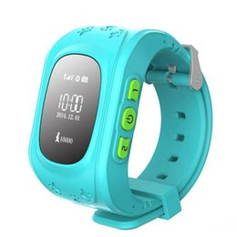 Q50 Reloj inteligente Kid Safe Reloj de pulsera GSM Localizador de localización GPS Tracker SIM SOS Anti-Lost Reloj inteligente Reloj de niños para iOS Android