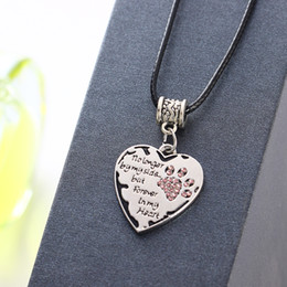 Jewelry creative personality no longer by my side love necklace leather rope dog claw necklace