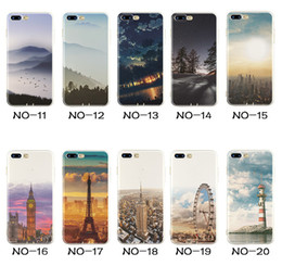 Landscape Painting Soft TPU Elizabeth Tower Big Ben Eiffel Silicone Coloured Drawing Case Cover For iPhone XS Max XR X 8 7 Plus 6 6S 5 5S