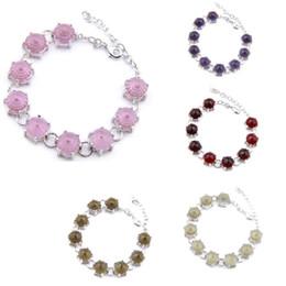 Optional Multi-color 3Pcs Lot Luckyshine Trendy Round Topaz Crystal Gems for Women's Bracelets Wedding Party Gift