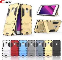 Armor Stand Hard PC + TPU Case For Samsung Galaxy S9 A8 PLUS 2018 A7 Huawei MATE 10 Pro Nokia 7 9 Shockproof Hybrid Phone Skin Cover 100PCS