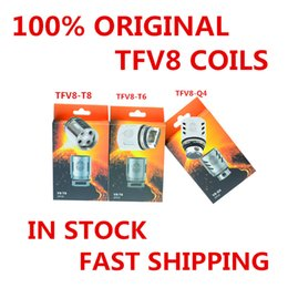 200% Authentic TFV8 Coil Head T10 V8-T8 V8-T6 V8-Q4 V8-X4 V8 RBA V8-T10 Replacement Coils For TFV8 Cloud Beast Tank DHL