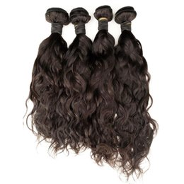 Natural Wavy Human Hair Bundles Unprocessed Brazilian Virgin Hair Weaves Cheap Peruvian Indian Malaysian Double Weft Extension Straight Body