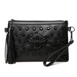 High quality female messenger bags black tassel lady shoulder bag soft face bag for women designer