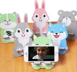 Creative gift gift phone holder Cute cartoon wooden rabbit mobile phone holder universal iPad mobile phone holder free shipping 2018 new hot