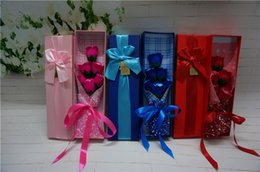 The graduation season creative gift 6 roses bouquets of soap Valentine's day gifts The simulation flower box