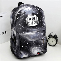 The new best-selling bullet-proof teenager star bag bag bts backpack student college wind around the same paragraph