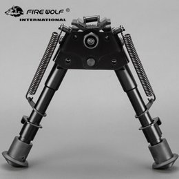2018 New 6-9 Bipod Model extendable leg mounted fixed bipod for hunting Stand Scope Mounts