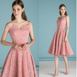 New Women Elegant Sleeveless Bridesmaid Swing A-line Dress Vintage Slash Neck Patchwork Midi Party Lace Dress DK9025CL