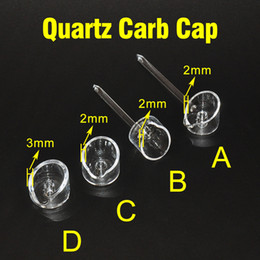New Banger Carb Cap quartz carb cap quartz banger nail domeless banger cap for oil bongs water pipes free shipping