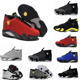 basketball shoes 14 mens red yellow Green white black Cool Grey mens sneakers sport shoes Free shipping size 8-13