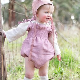 2018 INS NEW baby girl toddler Summer outfits Strap Lace Tube romper onesies jumper jumpsuits Dress Pleats Pleated Ruffle Shorts Pink beige