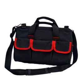 free shipping thicken 600D doulbe layer oxford cloth tool bag canvas multifunction hand shoulder tool bag electrician hardware repair kit