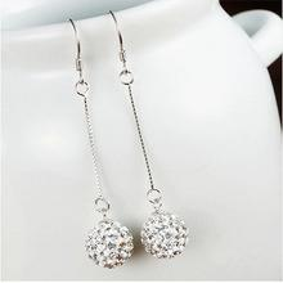 Woman crystal Shambhala ball earrings wedding gift vintage charm girl fashion hot sale earrings