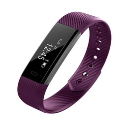 New Fashion ID115 Smart Bracelet Heart Rate Monitor Pedometer Band Bluetooth Fitness Activity Sports Tracker Wristband For Phone