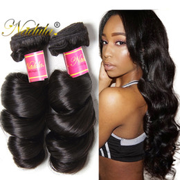 Nadula Brazilian Loose Wave Cheap Human Hair Bundles Human Hair Extensions Virgin Hair Wefts Weave 5Bundles Wholesale Peruvian Malaysian