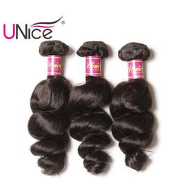 UNice Hair Wholesale Virgin Brazilian 3 Bundles Loose Wave Human Hair Extensions Peruvian Indian Malaysian Hair Weaves Nice Curl Bulk Price