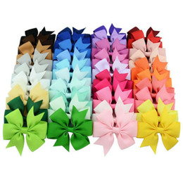 40 Colors Hair Bows Hair Pin for Kids Girls Children Accessories Baby Hairbows Girl Hair Bows with Clips Flower Clip