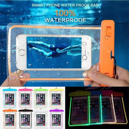 Universal Luminous Waterproof bag Pouch Underwater Dry Case Diving Swim Waterproof pouch glow in dark lighting case for iphone X