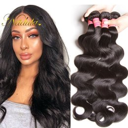 Nadula Virgin Peruvian Body Wave Human Hair Bundles Remy Human Hair Extensions Body Wave Bundles Wholesale 8A Virgin Hair Bulk