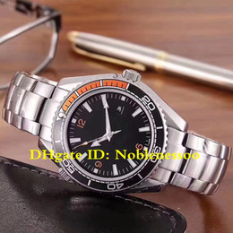 5 Style With Box Papers Watch 43.5mm Planet Ocean Co-Axial 600M 215.32.44.21.01.001 Steel Mechanical Automatic Mens Watches