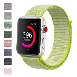 Woven Nylon Sport Loop Bracelet Watch Strap Replacement Band For Apple Watch Series 4 1 2 3 iwatch 4 38mm 42mm 40mm 44mm 200pcs