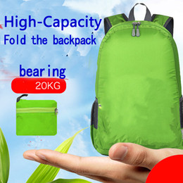 Outdoor travel folding knapsack portable leisure shoulder pack large capacity tear proof sports knapsack