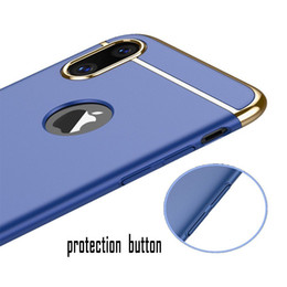 For IPhone x 8 7 6s 6 Plus Samsung Galaxy S9 S8 Plus Note 8 Fashion Luxury Slim 3 in 1 Detachable Matte Electroplating Cell Pone Cases Cover