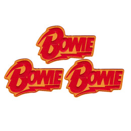Clothing patch DIY dress adornment sticker can be custom-made David Bowie red yellow flash iron-on sew-on cloth patch