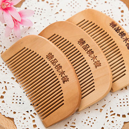 Wooden Comb Wholesale Fine Teeth Handmade Peach Wood, for use with Balms and Oils, HairCut Fade Comb over Hair Beard Style Christmas Gift
