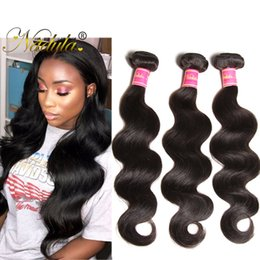 Nadula Indian Body Wave Human Hair Bundles With Closure Cheap Human Virgin Hair Extensions Remy Human Hair Wefts With Lace Closure Weave