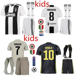 Top 2019 Juventus home Soccer Jersey 18 19#7 RONALDO DYBALA Soccer Shirt MARCHISIO MANDZUKIC PJANIC HIGUAIN football uniform Sales Kids