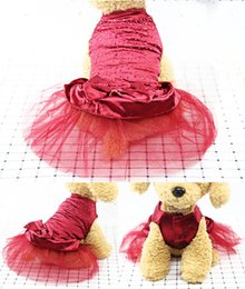 Dog Dresses Costume for Kids Apparel for Black Dogs Wedding Yellow Chihuahua Wholesaling Dog Dress Pink Tutu Dresses Medium Birthday Wedding