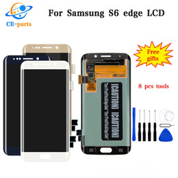 100% Tested Amoled For Samsung Galaxy S6 Edge G925 G925F G925A G925P LCD Display Touch Screen Digitizer Assembly with frame